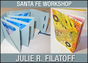 Julie Filatoff is teaching a one-day workshop at Artisan Santa Fe on beginning book arts.