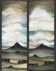 Paste Paper Landscapes by Madeleine Durham