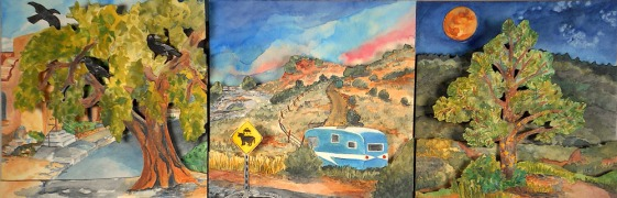 Trip(tych) Down the Turquoise Trail by Shiree Woodward