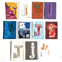 """J"" Postcards, 2 of 2"